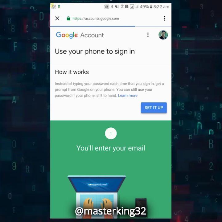 دومین قدم در ایمن سازی #جیمیل تایید ورود به جیمیل شما فقط از طریق تایید شما با گوشی موبایلتون . . . . .  #هک #امنیت #امنیت_سایبری #امنیت_اطلاعات #امنیت_شبکه #هک #هکر #هک_تلگرام #هک_اینستا #هک_اینستاگرام #هک_گوشی_اندروید #هک_اندروید #هک_جیمیل #hack #gmail #android #موبایل #phone #smartphone